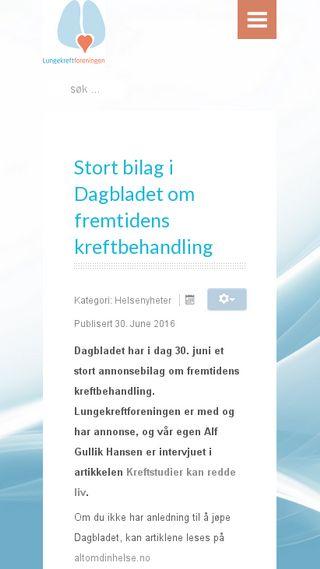 Mobile preview of lungekreftforeningen.no