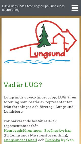 Mobile preview of lungsund.se