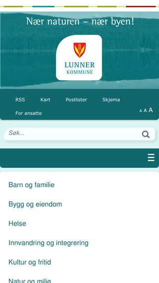 Mobile preview of lunner.kommune.no