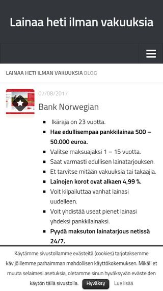 Mobile preview of luottotilit.fi