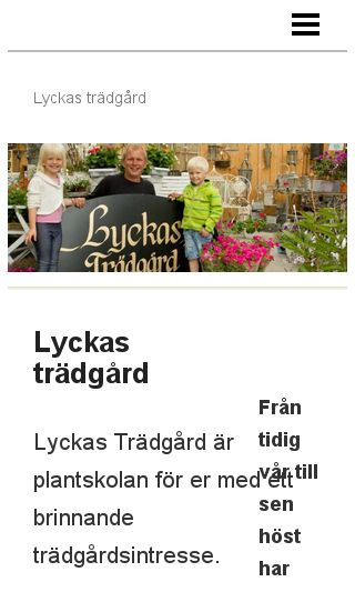 Mobile preview of lyckastradgard.se