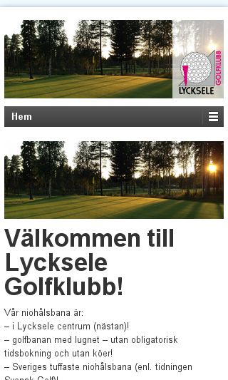 Mobile preview of lyckselegolf.se