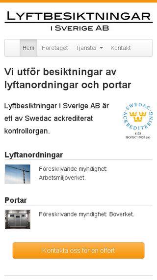 Mobile preview of lyftbesiktningar.se