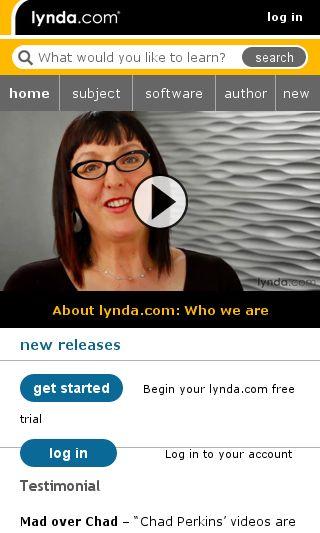Mobile preview of lynda.com