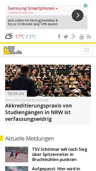 Mobile preview of lz.de