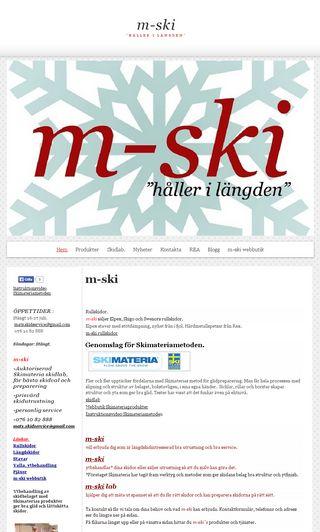 Mobile preview of m-ski.se