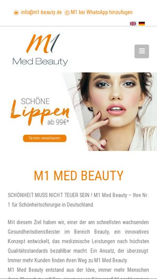 Mobile preview of m1-beauty.de