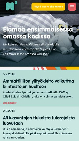 Mobile preview of m2kodit.fi