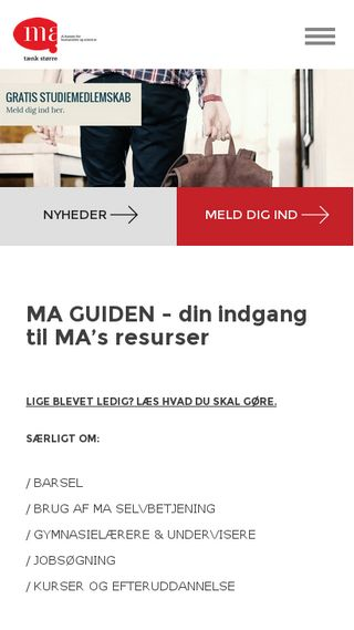 Mobile preview of ma-kasse.dk