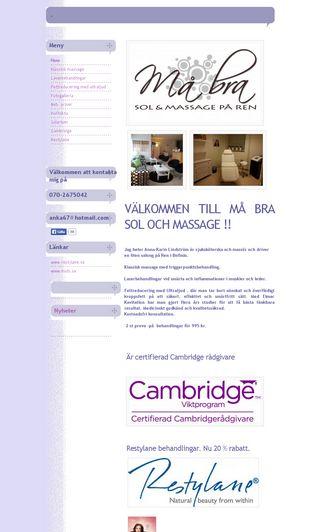 Mobile preview of mabrasolochmassage.se