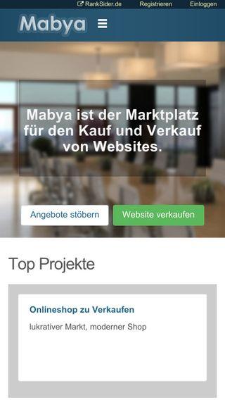 Mobile preview of mabya.de