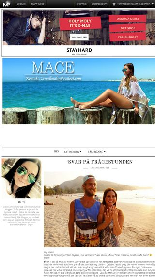 Mobile preview of mace.myshowroom.se