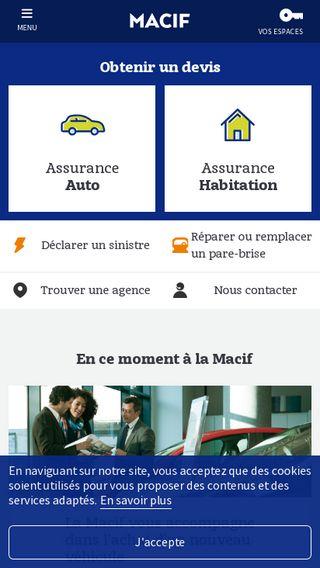 Mobile preview of macif.fr