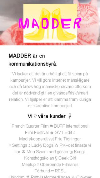 Mobile preview of madder.se