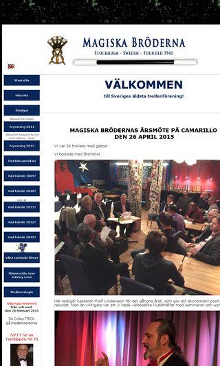 Mobile preview of magiskabroderna.se