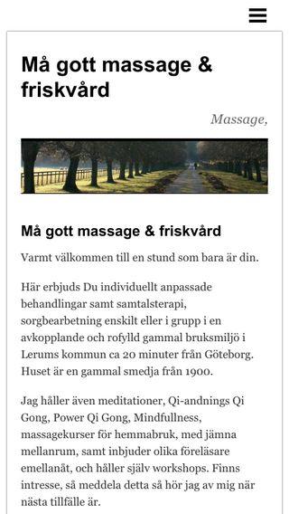 Mobile preview of magottmassage.se