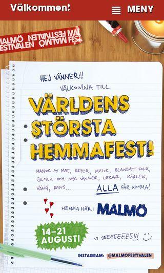 Mobile preview of malmofestivalen.se