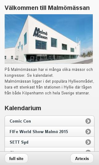 Mobile preview of malmomassan.se