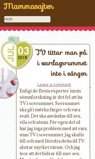 Mobile preview of mammasajten.se