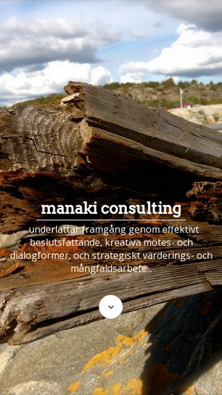 Mobile preview of manaki.se