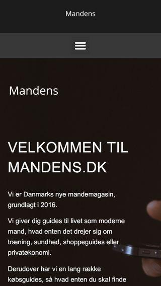 Mobile preview of mandens.dk