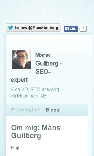 Mobile preview of mansgullberg.com