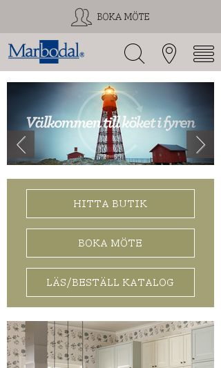 Mobile preview of marbodal.se