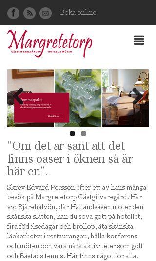 Mobile preview of margretetorp.se