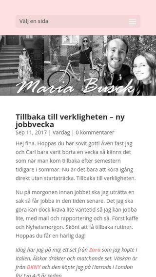 Mobile preview of mariabusck.com