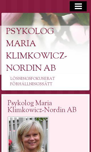 Mobile preview of mariaklimkowicznordin.se
