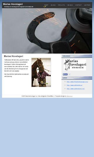 Mobile preview of mariashovslageri.se