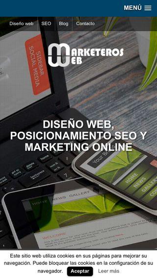 Mobile preview of marketerosweb.es
