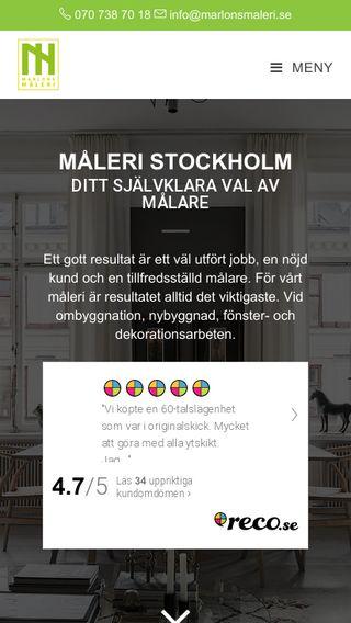 Mobile preview of marlonsmaleri.se