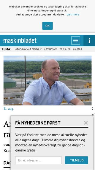 Mobile preview of maskinbladet.dk