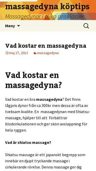 Mobile preview of massagedyna.nu
