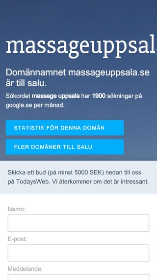 Mobile preview of massageuppsala.se