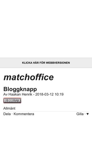Mobile preview of matchoffice.bloggplatsen.se