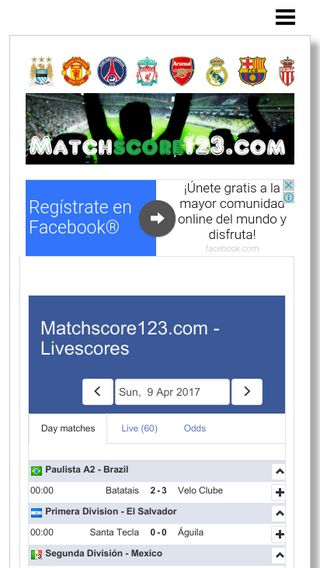 Mobile preview of matchscore123.com