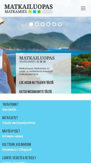 Mobile preview of matkamies.fi
