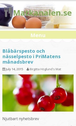 Mobile preview of matkanalen.se
