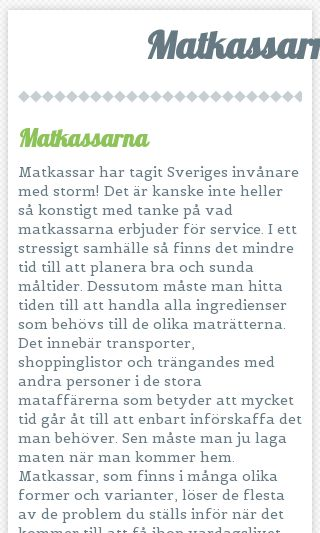 Mobile preview of matkassarna.se