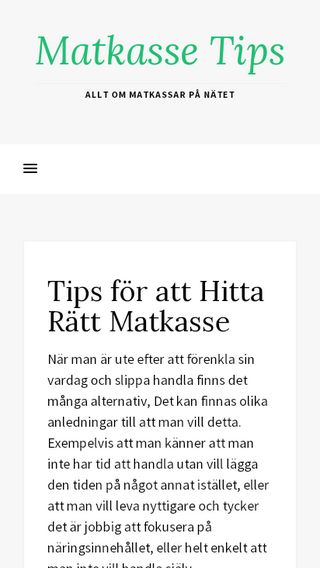 Mobile preview of matkasse.tips