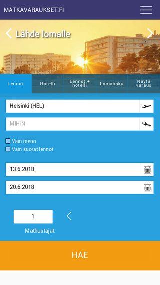 Mobile preview of matkavaraukset.fi