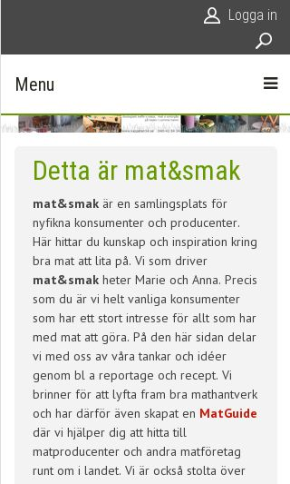 Mobile preview of matochsmak.se