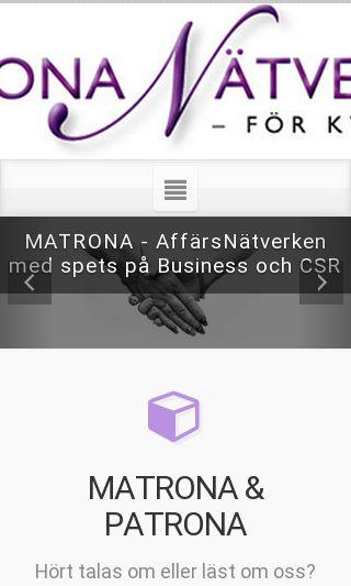 Mobile preview of matronanatverken.se