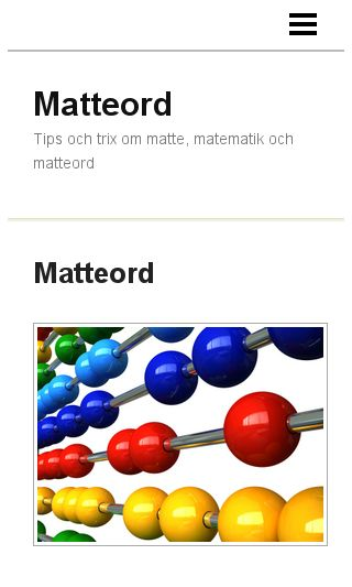 Mobile preview of matteord.se