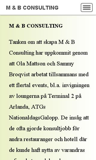 Mobile preview of mbconsulting.se