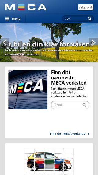 Mobile preview of meca.no