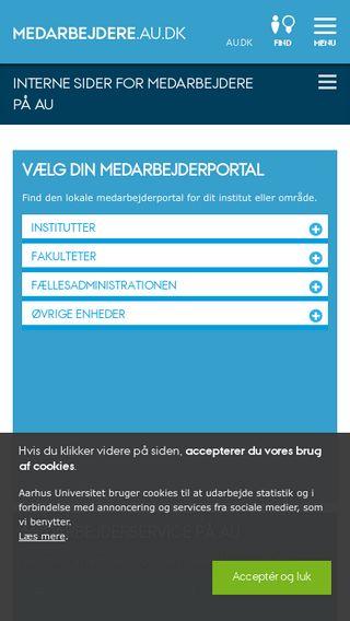 Mobile preview of medarbejdere.au.dk