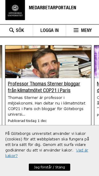 Mobile preview of medarbetarportalen.gu.se